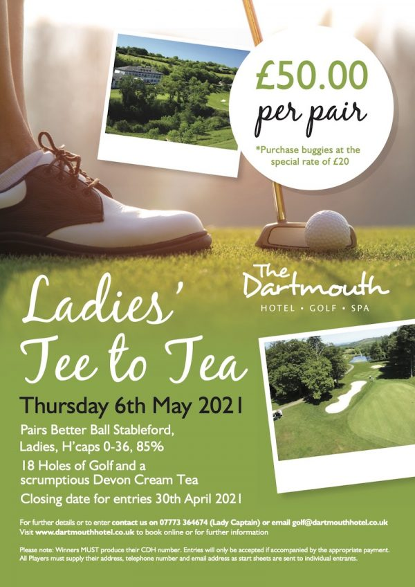 A4 dartmouth golf ladies tee to tea poster 1